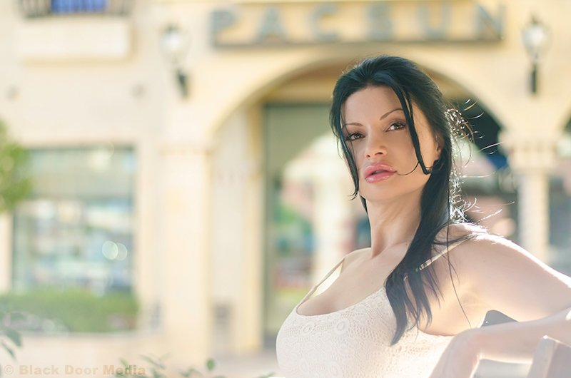 Artsy photoshoot with Stephanie done at Tivoli Village by Black Door Media
