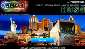 Website for AVegasNitePartyBus.com designed by Black Door Media