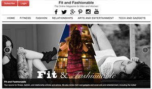 Website for FitandFashionable.com designed by Black Door Media