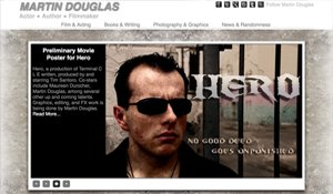 Website for MartinDouglas.com designed by Black Door Media