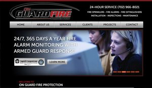 Website for OnGuardFP.com designed by Black Door Media