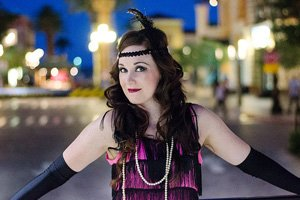 Jenny's third set of photos as a flapper girl shot by Black Door Media