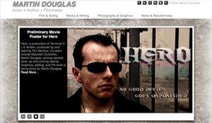 Website for MartinDouglas.com designed by Black Door Media